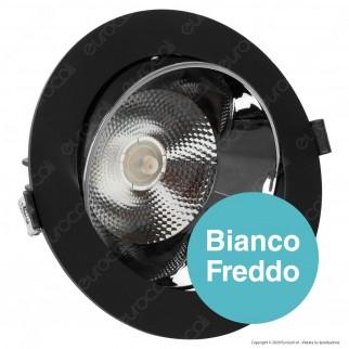 V-Tac PRO VT-2-23 Faretto LED COB 20W da Incasso Rotondo Nero Chip Samsung - SKU 20054 / 20055 / 20056