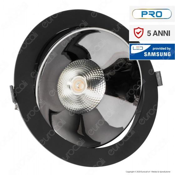 V-Tac PRO VT-2-33 Faretto LED COB 30W da Incasso Rotondo Nero Chip Samsung - SKU 20057 / 20058 / 20059