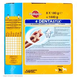 Pedigree Dentastix Medium per l'igiene orale del cane - Confezione da 56 Stick