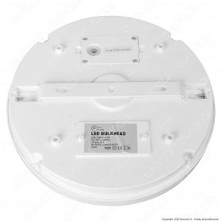 Sure Energy Plafoniera LED 24W Circolare IP65 IK10 con Sensore di Movimento a Microonde e Crepuscolare - mod. T754