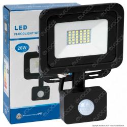 Sure Energy Faretto LED 30W IP65 Sottile Slim con Sensore di Movimento e Crepuscolare Nero - mod. T217