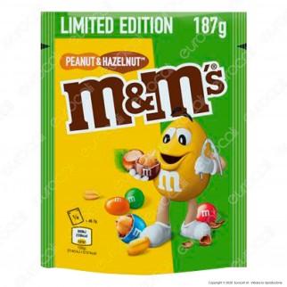 M&M's Limited Edition Peanut & Hazelnut Confetti con Arachidi e Nocciole Ricoperte di Cioccolato - Busta da 187g