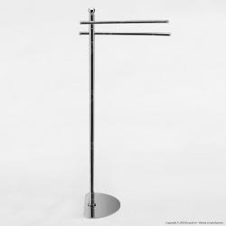 Piantana in Metallo Cromato Lucido Porta Asciugamani - PT34