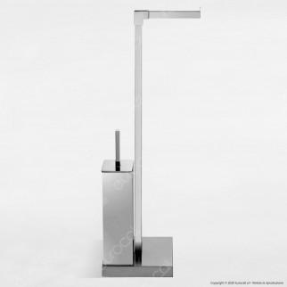 Piantana in Metallo Portarotolo e Portascopino - PT56R