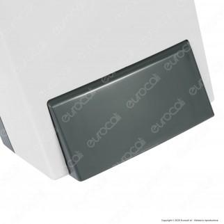 Celtex Megamini White Dispenser a Rabbocco per Sapone Liquido e Gel Igienizzante Alcolico Mani - Colore Bianco