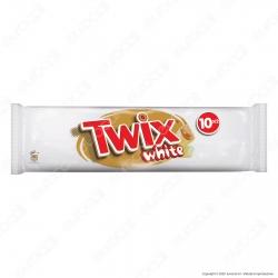 Twix White Snack con Biscotto e Caramello Ricoperto di Cioccolato Bianco - Confezione da 10 Barrette da 46g