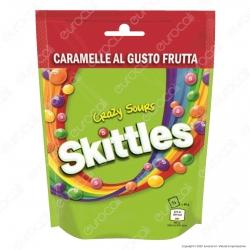 Skittles Crazy Sours Caramelle alla Frutta al Gusto Aspro - Busta da 160g