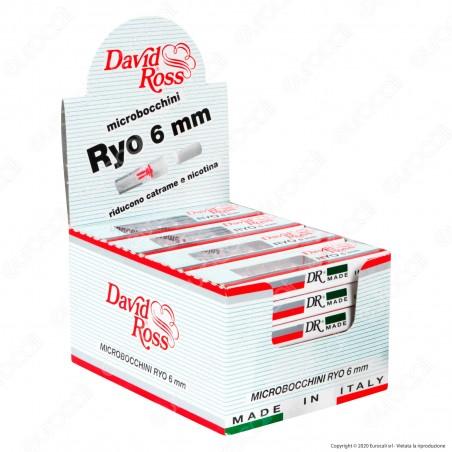 David Ross Microbocchini Ryo 6mm in plastica riutilizzabili per sigarette slim - Box 24 Blister da 10