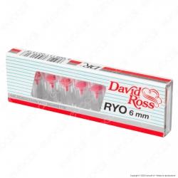 David Ross Microbocchini Slim 6mm in plastica riutilizzabili per sigarette slim - Scatolina singola