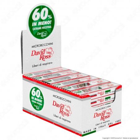 David Ross Microbocchini 8mm in plastica riutilizzabili per sigarette regular - Box 36 Blister da 10