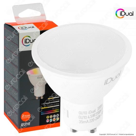 iDual Lampadina LED GU10 Faretto Multifunzione RGB+W 4,5W Spotlight 100° - mod. JE001810000
