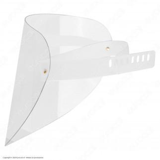 Visiera Protettiva Orientabile in Plexiglass Trasparente 1mm per Protezione Volto Occhi e Bocca