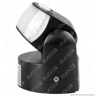 V-Tac VT-8093 Sensore di Movimento Regolabile a Infrarossi IP65 per Lampadine LED Colore Nero - SKU 6610
