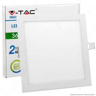 V-Tac VT-3107SQ Pannello LED Quadrato 36W SMD da Incasso con Driver - SKU 6430 / 6431