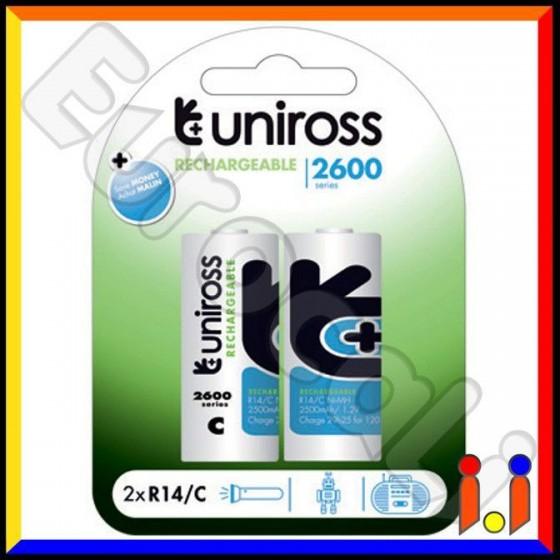 Uniross Performance Mezzatorcia C 2600 Series Pile Ricaricabili - Blister 2 Batterie