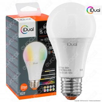 iDual Lampadina LED E27 Bulb A60 Multifunzione RGB+W 9W - mod. JE002810000