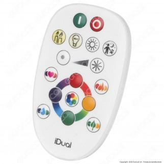 iDual Lampadina LED E27 Globo G95 Multifunzione RGB+W 12W con Telecomando - mod. JE013810200