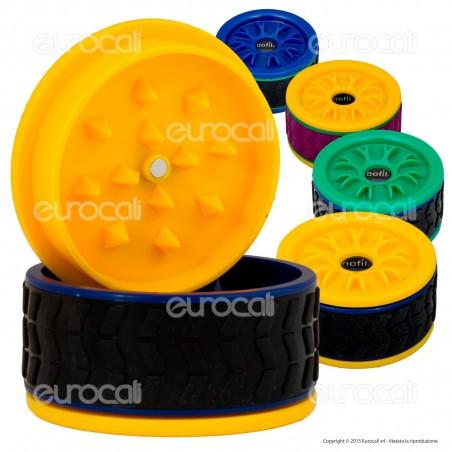 Grinder Tyre Tritatabacco 3 Parti in Plastica - Ruota Automobile