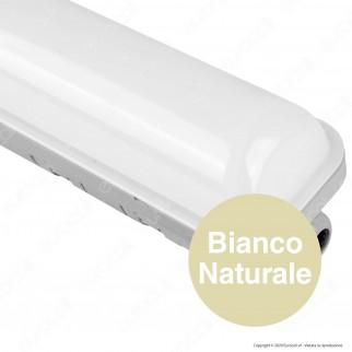 Wiva Tubo LED Plafoniera 30W mod. Niagara Eko Lampadina 120cm Impermeabile - mod. 51200048 / 51200049