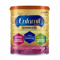 Enfamil Premium Complete 2 Latte di Proseguimento per Bambini da 6 ai 12 Mesi - Barattolo da 800g