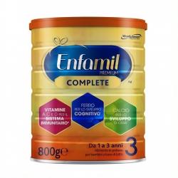 Enfamil Premium Complete 3 Alimento in Polvere a base di Latte per Bambini da 1 a 3 Anni - Barattolo da 800g