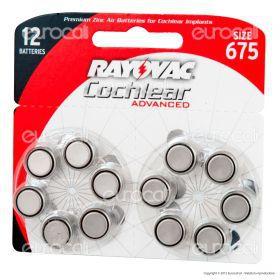 Rayovac Coclear Misura 675 - Blister 12 Batterie per Protesi Acustiche
