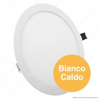 V-Tac PRO VT-624 RD Pannello LED Rotondo 24W SMD da Incasso con Driver con Chip Samsung - SKU 724 / 725 / 726