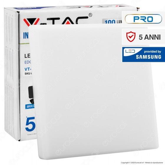 V-Tac PRO VT-620SQ Pannello LED Quadrato 20W SMD da Incasso con Driver con Chip Samsung - SKU 611 / 612 / 613
