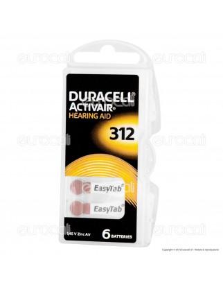 Duracell Activair Misura 312 - Blister 6 Batterie per Protesi Acustiche