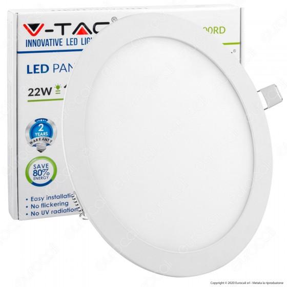 V-Tac VT-2200 RD Pannello LED Rotondo 22W SMD5630 da Incasso - SKU 4833