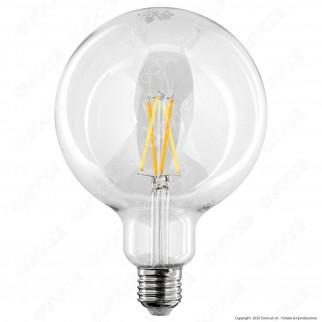 iDual Lampadina LED E27 Cross Filament 9W Globo G125 Changing Color Dimmerabile in Vetro - mod. JE0181930