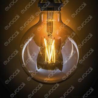 iDual Lampadina LED E27 Cross Filament 9W Globo G125 Changing Color Dimmerabile in Vetro Ambrato - mod. JE0181630
