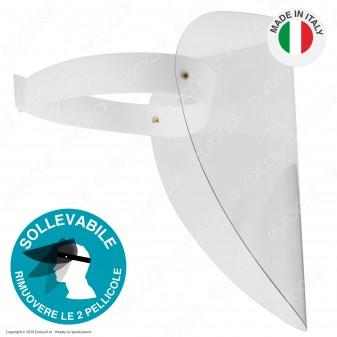 Visiera Protettiva Orientabile in Plastica Trasparente Robusta 1mm per Protezione Volto Occhi e Bocca