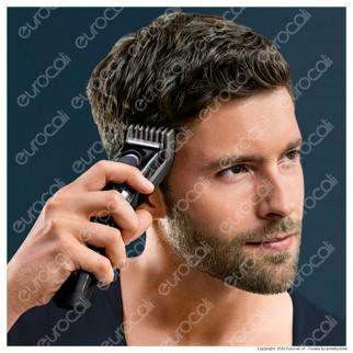 Braun HC5050 Tagliacapelli, Regolabarba Uomo e Rasoio Elettrico Barba con 17 Impostazioni di Lunghezza