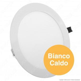 V-Tac PRO VT-618 RD Pannello LED Rotondo 18W SMD da Incasso con Driver con Chip Samsung - SKU 718 / 719 / 720