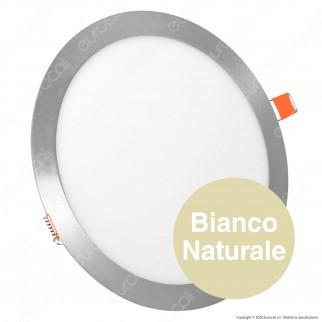 V-Tac VT-1807RD Pannello LED Rotondo 18W SMD Satinato da Incasso con Driver - SKU 6349 / 6350 / 6351