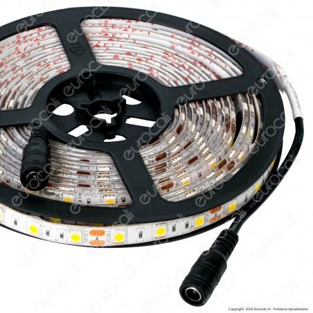 Sure Energy Striscia LED SMD 5050 14,4W/m 12V Monocolore 120 LED IP65 - Bobina da 5 metri - mod. T655 / T654