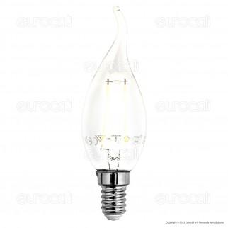 V-Tac VT-1897 Lampadina LED E14 2W Candela Fiamma Filamento