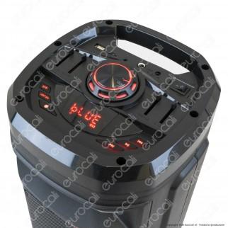 V-Tac Audio VT-6207-2 Soundor 6x2 Cassa Attiva 30W con Bluetooth Karaoke LED RGB Telecomando e Microfono - SKU 8680