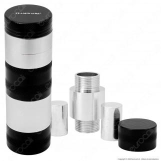 Grinder Tritatabacco Flaminaire Tower 4 Parti in Metallo + Pressa