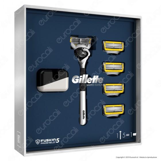 Gillette Fusion 5 Proshield Rasoio a 5 Lame Edizione Limitata + 5 Lamette di Ricambio