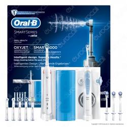 Oral-B Center Kit Spazzolino Elettrico Bluetooth Smart 5000 e Idropulsore Oxyjet