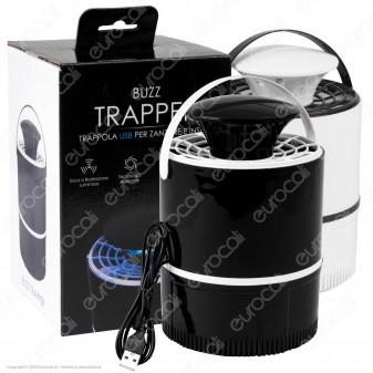 Intergross Buzz Trapper Trappola USB Attira Zanzare e Insetti con Luce UV - mod. IGZ118