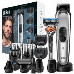 Braun MGK7020 Rasoio Barba Elettrico e Tagliacapelli Rifinitore 10-In-1