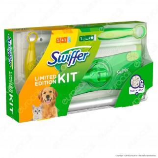 Swiffer Kit Limited Edition Scopa con 8 panni catturapolvere e Manico Duster con 1 Piumino