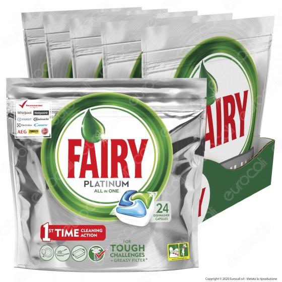 Fairy Platinum Regular Tutto in Uno Pastiglie Per Lavastoviglie - Confezione da 120 pastiglie