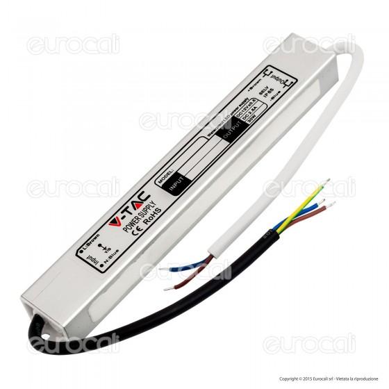 V-Tac Alimentatore 45W Impermeabile IP65 a 1 Uscita con Cavi a Saldare