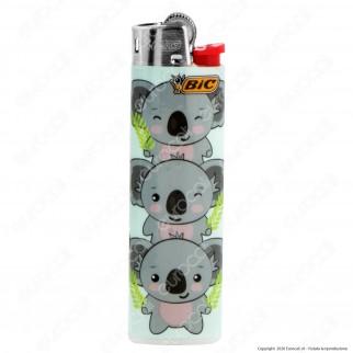 Bic Slim J23 Medio Fantasia Koala - Box da 50 Accendini