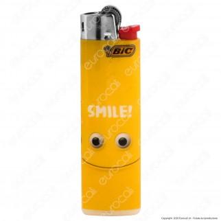 Bic Slim J23 Medio Fantasia Yellow Mouths - Box da 50 Accendini