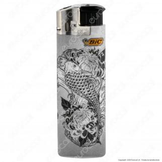 Bic Maxi J38 Elettronico Grande Fantasia Tattoo - Box da 50 Accendini